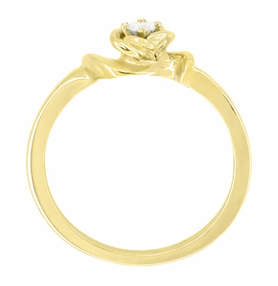 Retro Moderne Rose Diamond Promise Ring in 14 Karat Yellow Gold - Item R377Y - Image 1