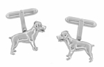 Rottweiler Cufflinks in Sterling Silver