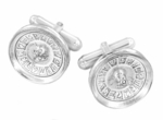 Roulette Wheel Cufflinks in Sterling Silver