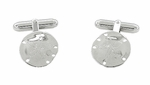Sand Dollar Cufflinks in Sterling Silver