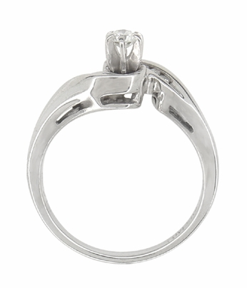 Secret Hearts Diamond Twist Ring in 14 Karat White Gold - Item R787 - Image 2