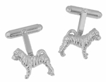 Shar-Pei ( Sharpei ) Cufflinks in Sterling Silver