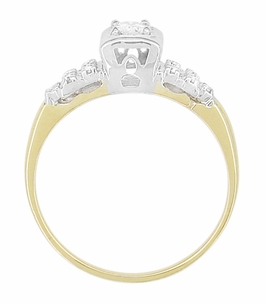 Art Deco Diamond Antique Engagement Ring in 14 Karat White and Yellow Gold | 1930s Heirloom Ethical Diamond Engagement Ring - Item R771 - Image 3
