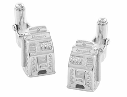 Slot Machine Cufflinks in Sterling Silver