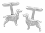Spaniel Cufflinks in Sterling Silver