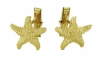 Starfish Cufflinks in 14 Karat Gold