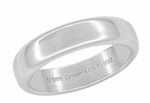 Tiffany & Co Lucida Wedding Band in Platinum 4.5mm Ring Size 5 - Mint, Like New - Retail $1775