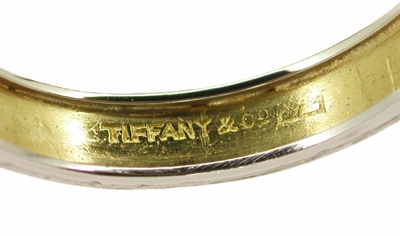 Tiffany & Co. Vintage Wedding Band in Platinum and 18 Karat Yellow Gold - Item R273 - Image 1