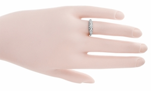 Art Deco Filigree Wedding Ring in 14 Karat White Gold - Click to enlarge