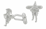 Trojan Warrior Cufflinks in Sterling Silver