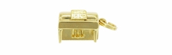 Upright Piano Charm in 14K Gold | Vintage 1960's
