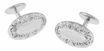 Victorian Scrolls Engravable Cufflinks in Sterling Silver