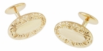 Victorian Scrolls Engravable Cufflinks in Sterling Silver with Yellow Gold Vermeil