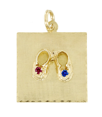 Vintage Baby Shoes Charm in 14 Karat Yellow Gold