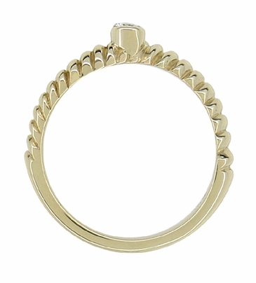Vintage Diamond Twist Ring in 14 Karat Yellow Gold - Item R887 - Image 1