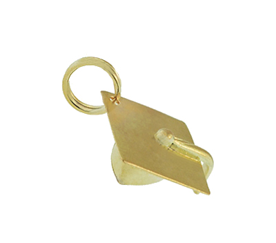 Vintage Graduation Cap Charm in 14 Karat Yellow Gold
