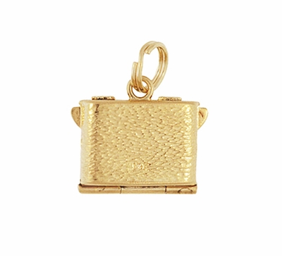 Vintage Moveable Opening Camera Locket Charm in 14 Karat Yellow Gold - Item C657 - Image 2