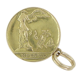 Vintage National Federation of Business and Professional Women's (NFBPWC) Charm in 14 Karat Gold