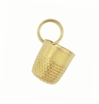 Vintage Thimble Charm in 14 Karat Yellow Gold | Sewing Pendant