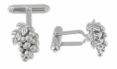 Wine Grapes Cufflinks in Sterling Silver - Item SCL218 - Image 1