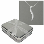 "10th Anniversary Gift Tin with Silver ""Connection"" Necklace"