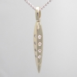 20 Diamond Facet Necklace (18k White Gold)