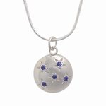 5 Sapphire Starry Sky Pendant and Chain (Sterling Silver)