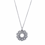 Circle Duality Necklace: 20 Platinum Ingots for 20th Wedding Anniversary