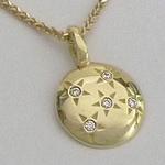 "Five Diamond ""Starry Sky"" Necklace (Yellow, 18k Gold)"