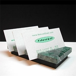 Green Marble Business Card Holder (rectangular)
