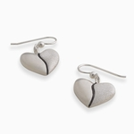 Harmony Heart Earrings (sterling silver)