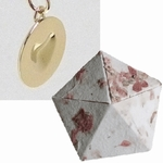 Paper Anniversary Melting Heart (18k Gold) in Origami Box