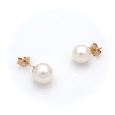 Pearl Earrings - 5.5mm Akoya pearls on 14k posts