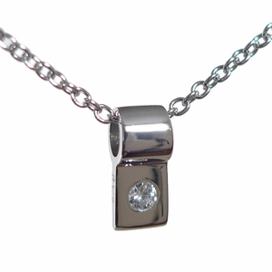 Platinum and Diamond Slide Necklace (with platinum chain)