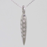 Platinum Facet Necklace with 25 Diamonds