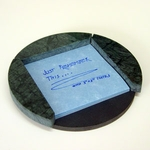Round Post-it Note Holder (Green Marble)