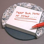 Round Post-it Note Holder (Grey Granite)