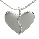 Silver Anniversary Harmony Heart with 25 Beads