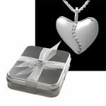 Ten Diamond Silver Harmony Heart (Small) in Tin Box