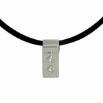 Two Diamond Silver Slide Necklace: 2nd Anniversary Gift