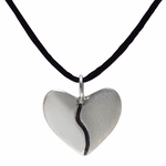 Two Tone Harmony Heart Necklace