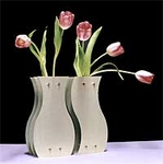 Yin-Yang Vases (original designs in aluminum and silver)