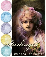 25% OFF Weekly Sale through 11:59 PM PST 4/23! ~ STARBRIGHT Gothic Lolita Mineral Shimmer- 7 whimsical, sparkling shades - vegan/cruelty free