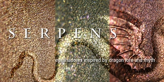 SERPENS eyeshadow collection - inspired by dragon lore