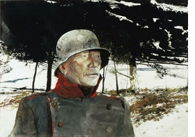 """Featured image: Andrew Wyeth, """"The German,"""" 1975. Watercolor � Andrew Wyeth."""