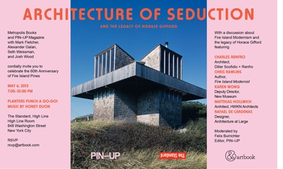 Architecture of Seduction and the Legacy of Horrace Gifford: Monday, May 6 at The Standard, High Line