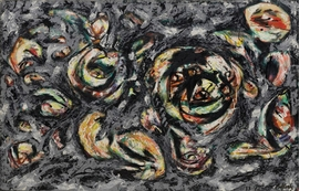 Featured painting, by Jackson Pollock, is reproduced from <I>Art of Another Kind: International Abstraction and the Guggenheim, 1949-1960</I>.