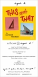 ARTBOOK @ agn�s b. Presents Jason Fulford & Tamara Shopsin Launching 'This Equals That'