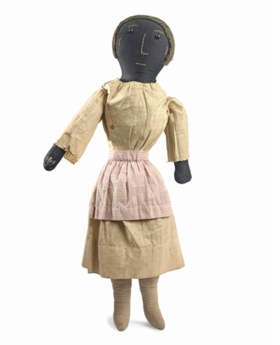 """""""Woman with Pink Apron,"""" by an unknown artist in the first third of the twentieth century, is reproduced from <I>Black Dolls</I>."""
