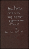 Brice Marden: Notebook Sept. 1964-Sept. 1967